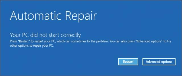 修复Windows 10启动问题