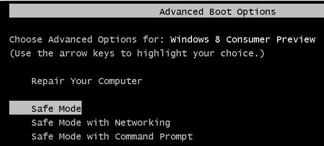 无法在Windows 10中进入安全模式