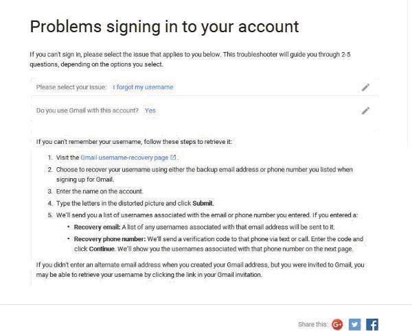恢复谷歌邮件帐户