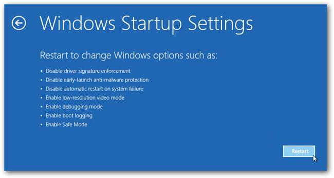 在Windows 10步骤5中进入安全模式