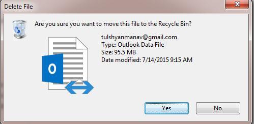 如何删除ost文件 - 确认删除.ost文件