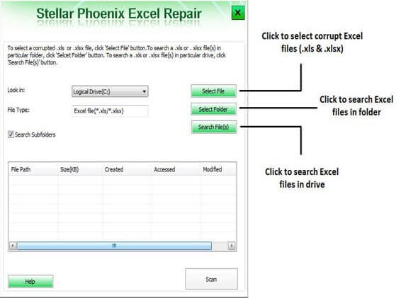 修复损坏的Excel文件步骤1