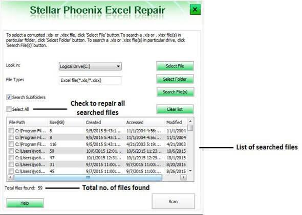 修复损坏的Excel文件第2步