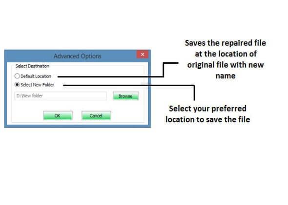 使用修复工具步骤4修复损坏的Excel文件