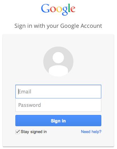 登录Gmail帐户