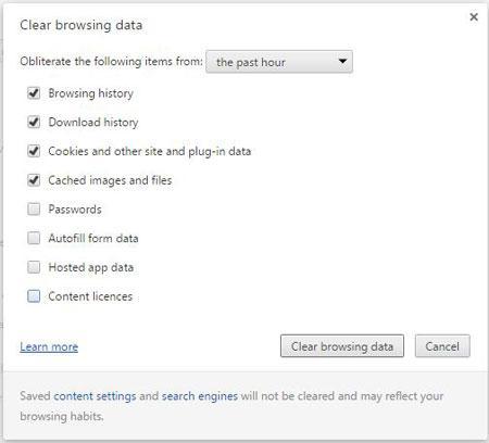 如何清除Google Chrome浏览器数据