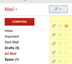 选择所有邮件