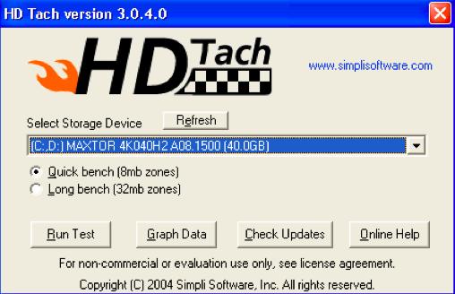 Windows-HD Tack-3的硬盘速度测试