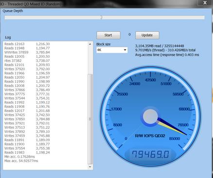 Windows-Anvil-2的硬盘速度测试