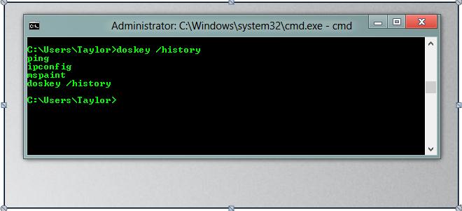 使用命令命令历史记录删除文件