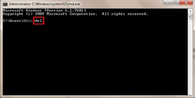 运行cmd以删除文件和文件夹