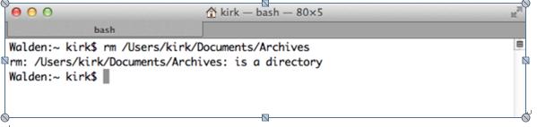 在Mac上使用命令提示符和命令行删除文件