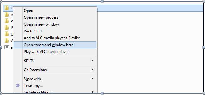 使用命令删除文件 - 打开命令提示符