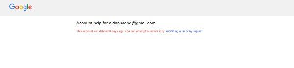 恢复电子邮件帐户