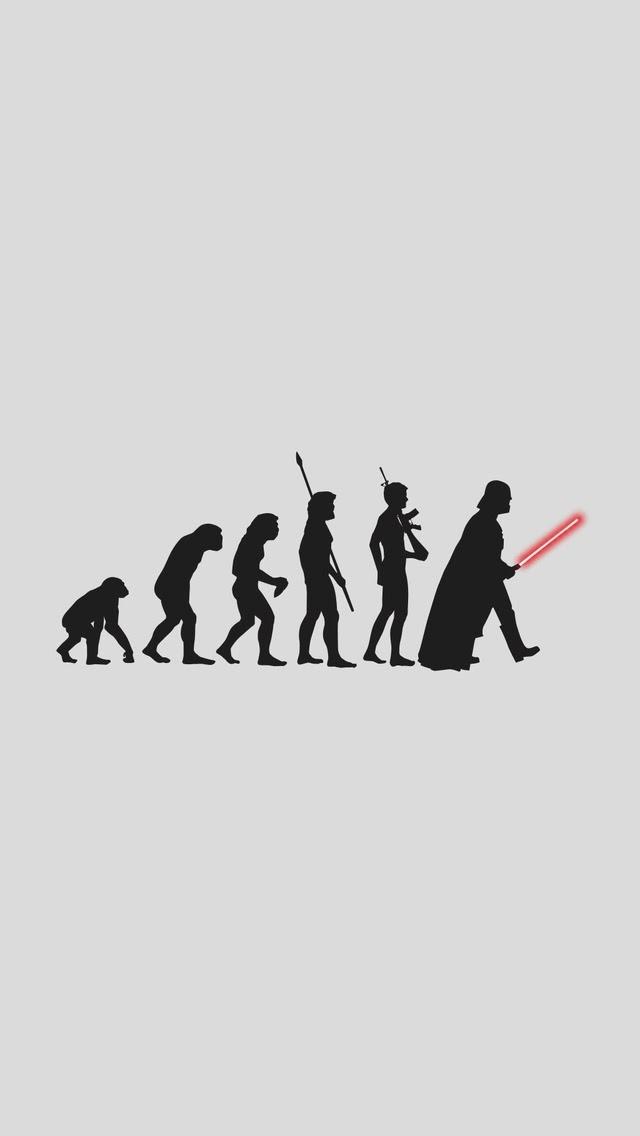 20个有趣的iphone壁纸 - 达斯维达进化