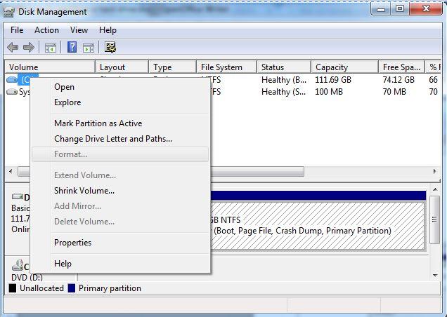 格式化硬盘步骤3