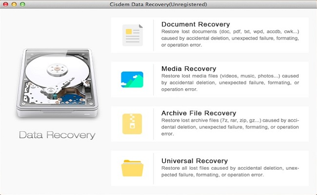 适用于Mac的Mac-Cisdem DataRecovery免费数据恢复软件