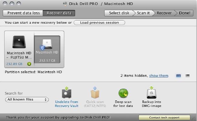 适用于Mac-Disk Drill Pro的免费数据恢复软件