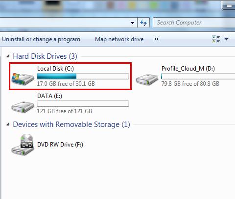 运行硬盘检查以修复蓝屏bccode 9f-step 3