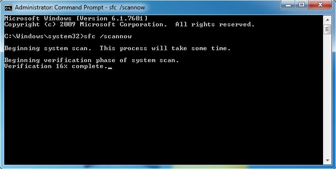 修复损坏的系统fils以修复蓝屏停止0x0000003b