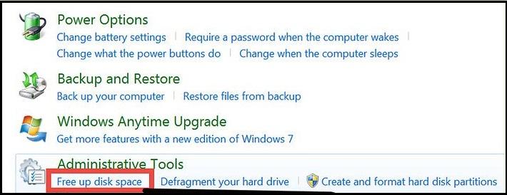 确保Windows驱动器上的可用空间,以避免蓝屏死机