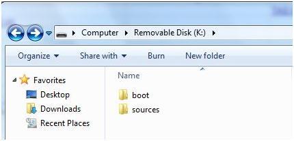 使用USB恢复驱动器还原Windows 7