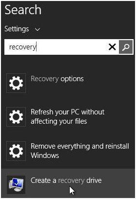 如何使用USB恢复驱动器还原Windows 8