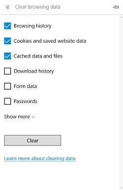 清除微软边缘的临时文件