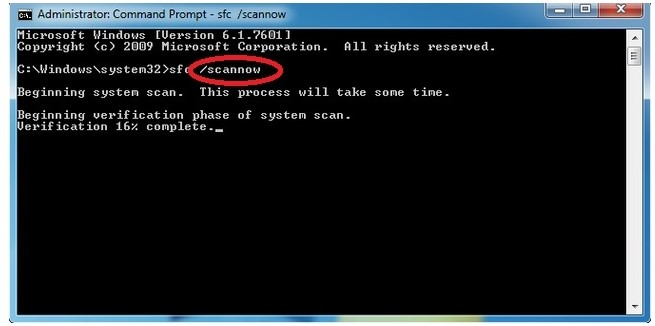 步骤3 Windows实用程序检查以修复蓝屏0x00000109