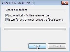步骤2修复硬盘修复蓝屏0x00000109