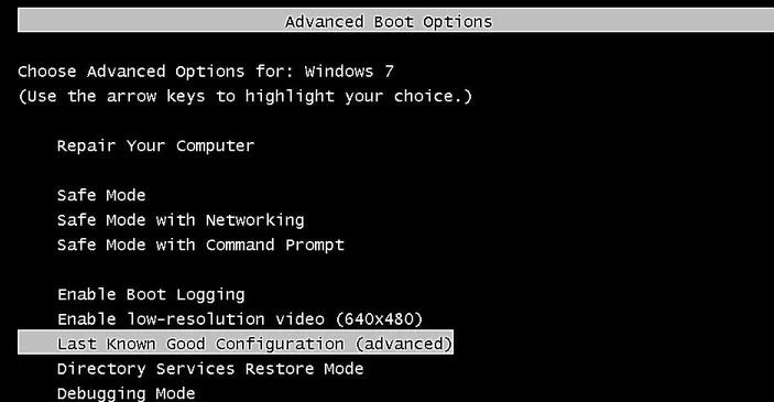Check for configuration to fix Blue Screen Error 0x00000004