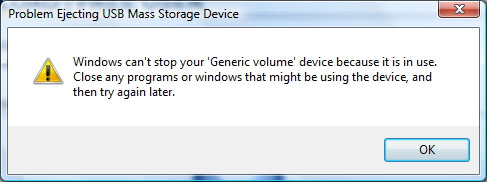 Most Common USB Storage Device Problems-unable to safely remove usb drive