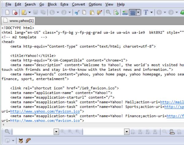 查看网站上的源代码
