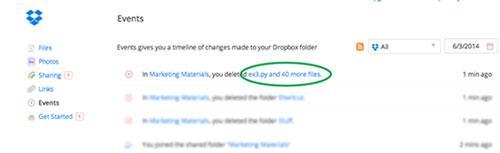 恢复已删除的文件dropbox第1步