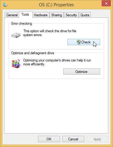 自动修复硬盘第2步