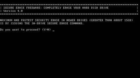 安全删除:HDDErase