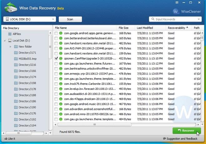 SD卡恢复软件 - 明智的数据恢复