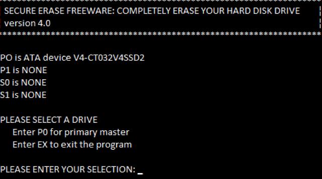 使用HDD橡皮擦擦除硬盘