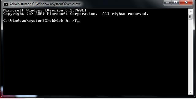 尝试chkdsk命令从SD卡恢复数据