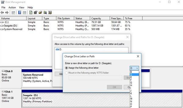 重命名新的驱动器号以从SD卡恢复数据