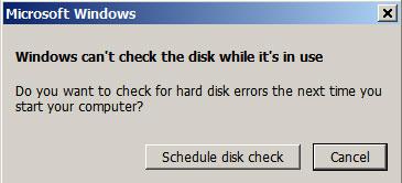 修复chkdsk第5步的硬盘驱动器问题