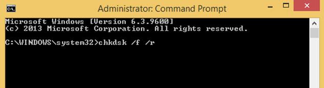 使用命令提示符步骤1修复硬盘驱动器问题