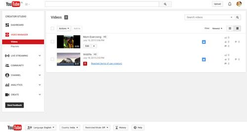 电脑删除youtube视频和频道