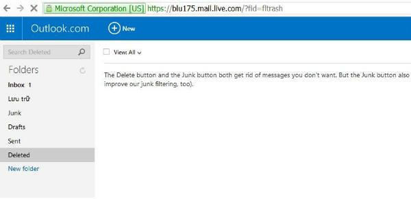 恢复Hotmail帐户