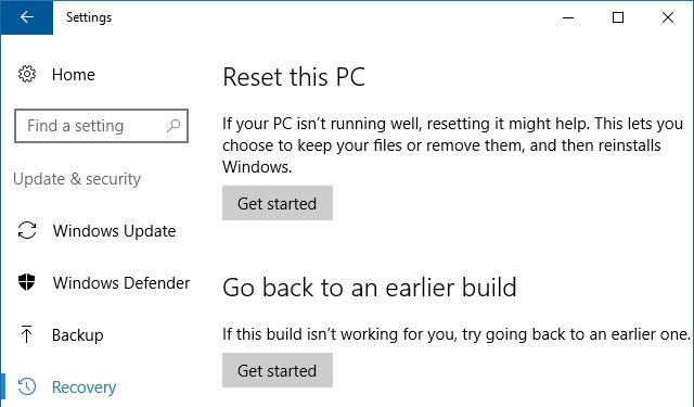 重置您的电脑