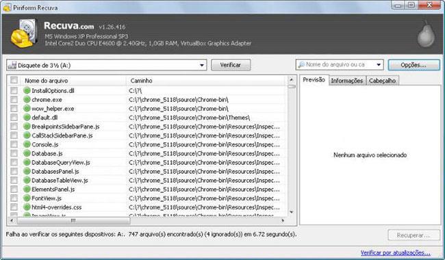 Undelete Freeware-Recuva