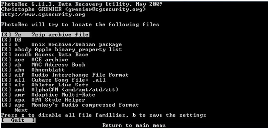Photo Rec Linux数据恢复