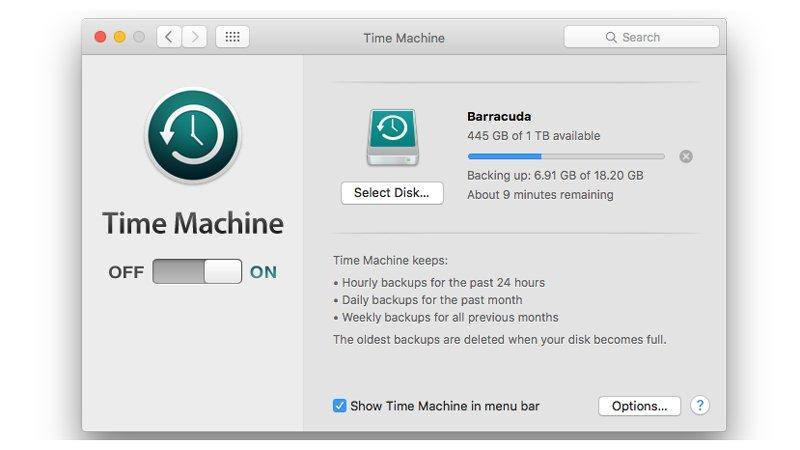 在更新到mac os seirra之前备份mac