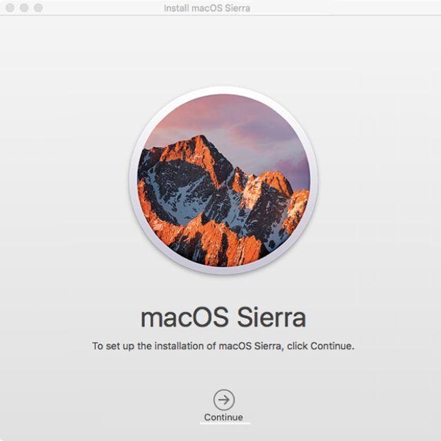 如何从10.7.5  -  2更新到mac os sierra