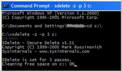 使用SDelete永久删除文件